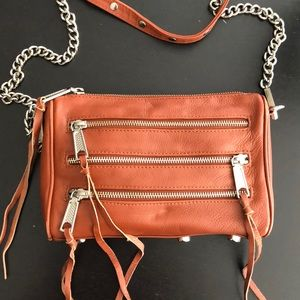 Rebecca Minkoff brown with silver hardware 5-zip